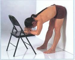 In fig 3, an option to do this pose with ease would be to make it passive by using props such as the wall and chair fro support. The yogi can now draw their shoulders away from their ears ,keep openness in the chest area and keep their breath flowing, and release the force or pressure to the lower back caused by the inhibition of the hip flexors.