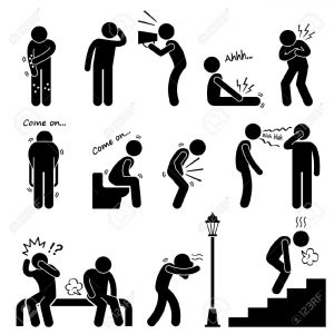 24911383-Human-Disease-Illness-Sickness-Symptom-Syndrome-Signs-Stick-Figure-Pictogram-Icon-Stock-Vector