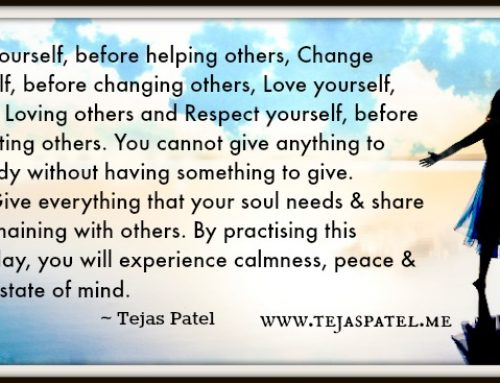 Changing others does not work – Be the change you want to see in the world