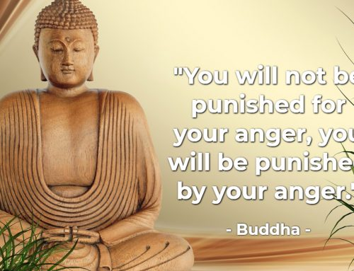 'You will not be punished for your anger, you will by punished your anger'