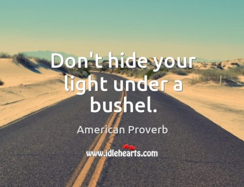 "Therapists – ""Don't hide your light under a bushel"""