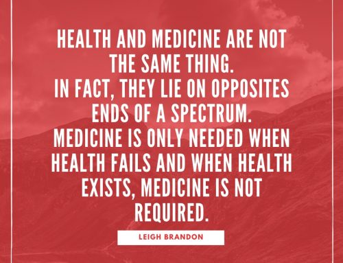 Are health & medicine the same thing?
